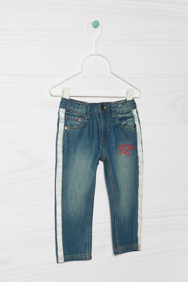 Worn-effect jeans with embroidery   OVS
