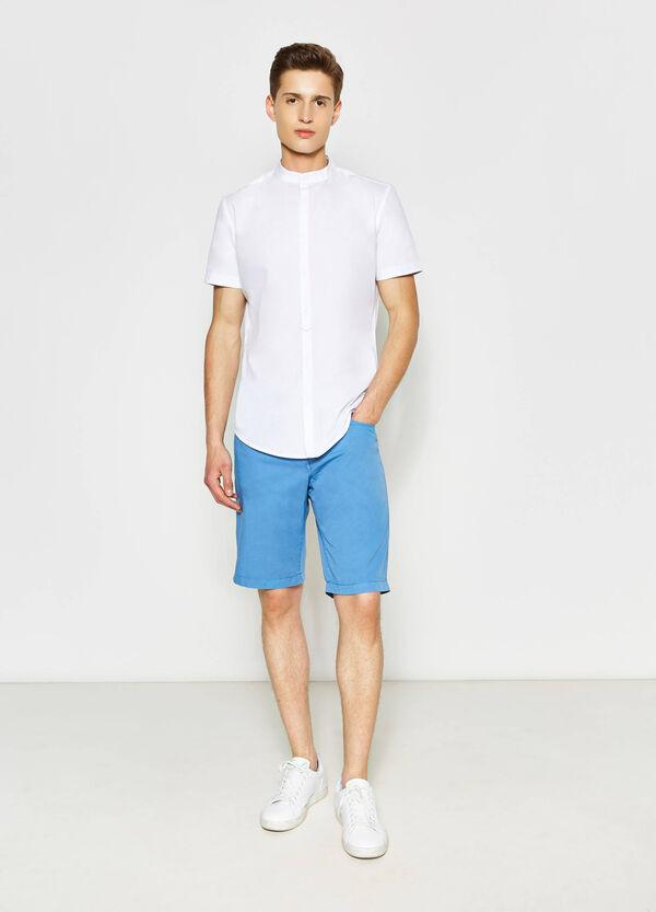 Regular-fit Bermuda shorts in 100% cotton | OVS