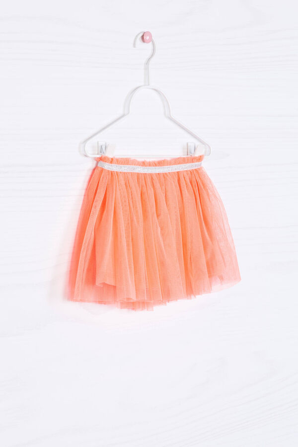 Solid colour openwork skirt with glitter | OVS