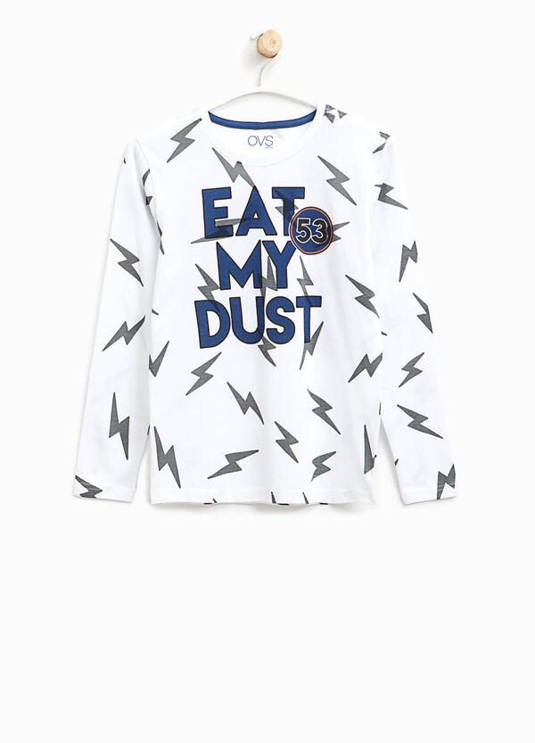 T-shirt stampata fantasia saette | OVS