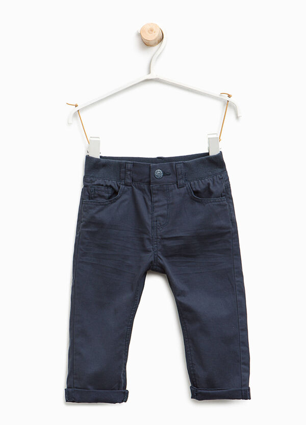 Pantaloni in twill di puro cotone | OVS