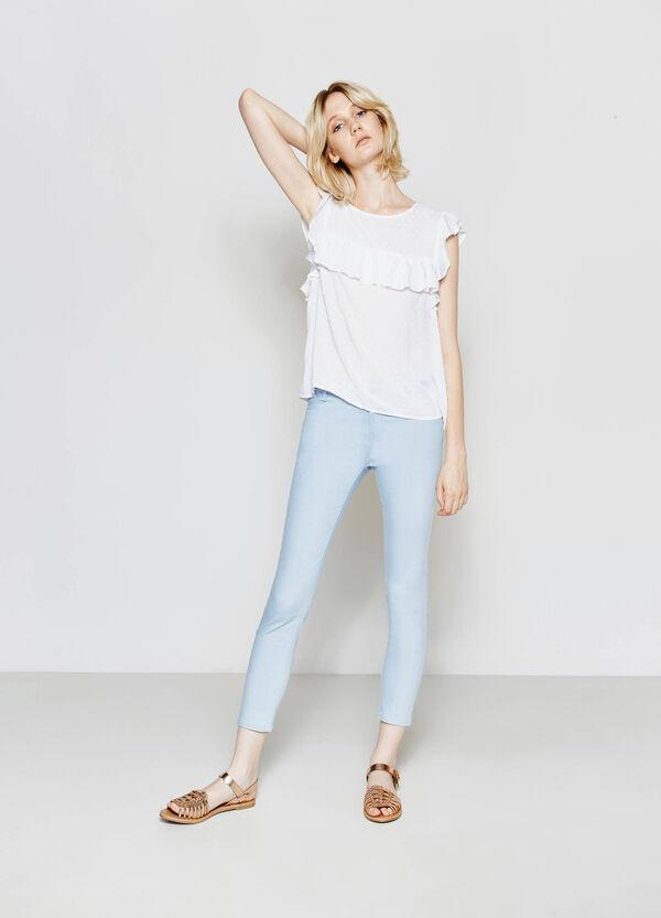 Pantaloni skinny fit cotone stretch | OVS