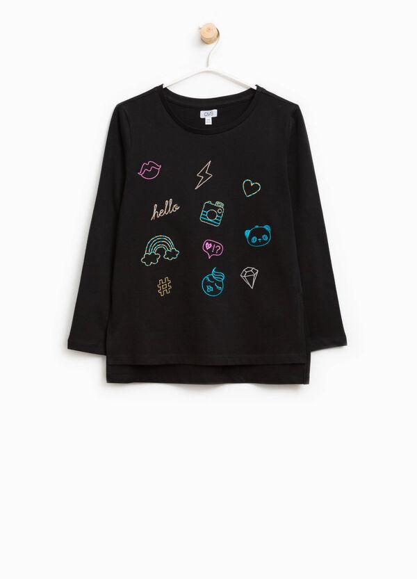 T-shirt in puro cotone con ricami | OVS