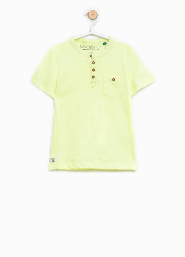 Polo in cotone con colletto coreano | OVS