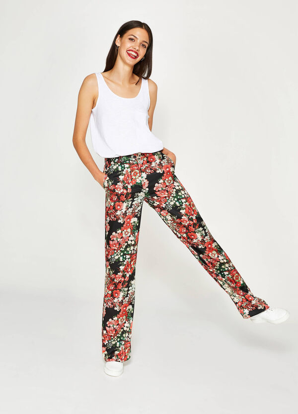 Pantaloni stampa floreale all-over | OVS