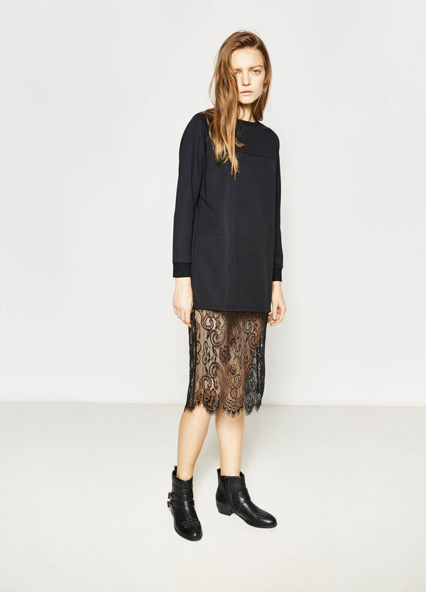 Semi-sheer lace dress | OVS