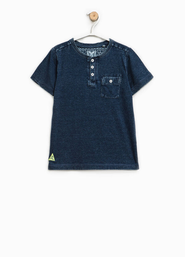 Cotton misdyed-effect T-shirt   OVS