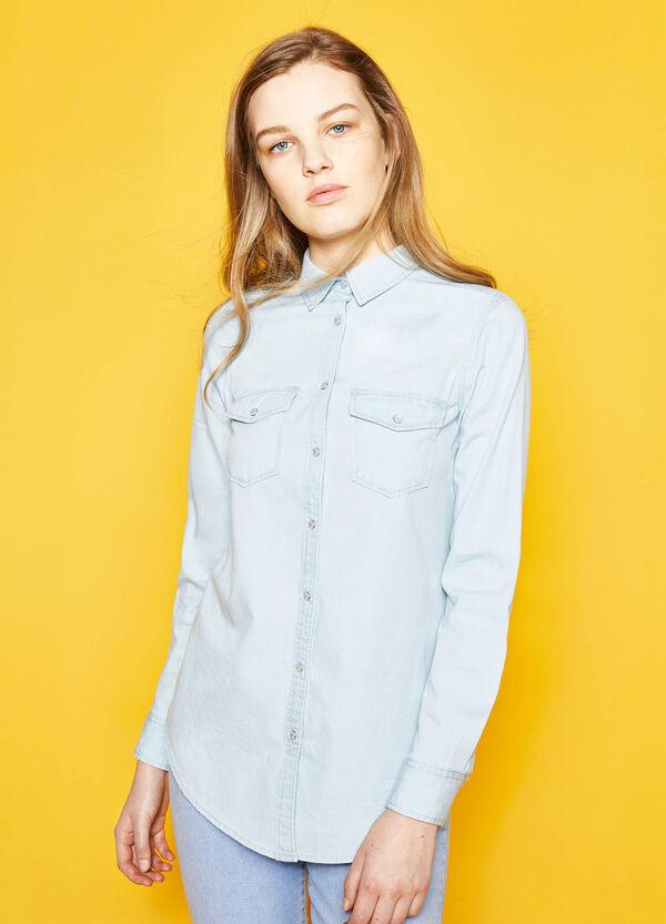 Camicia in puro cotone fondo stondato | OVS