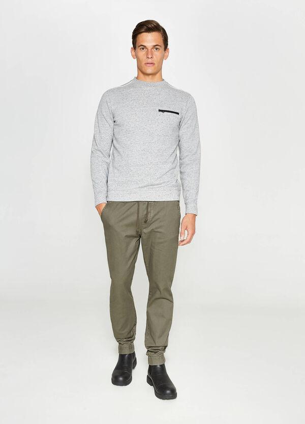 Slim fit cotton jogger trousers | OVS