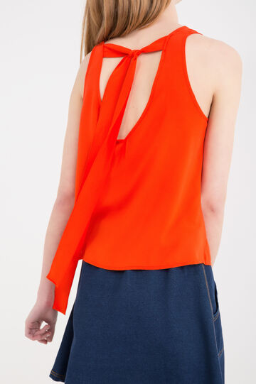 100% viscose top with laces