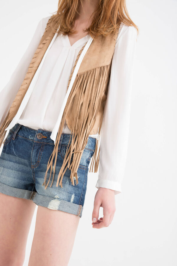 Shorts jeans used con strappi | OVS