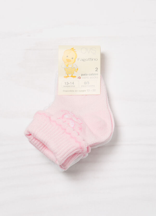 Two-pair pack stretch socks with pattern   OVS