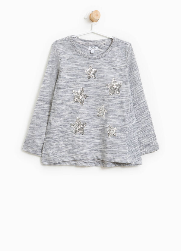 T-shirt in viscosa con paillettes | OVS