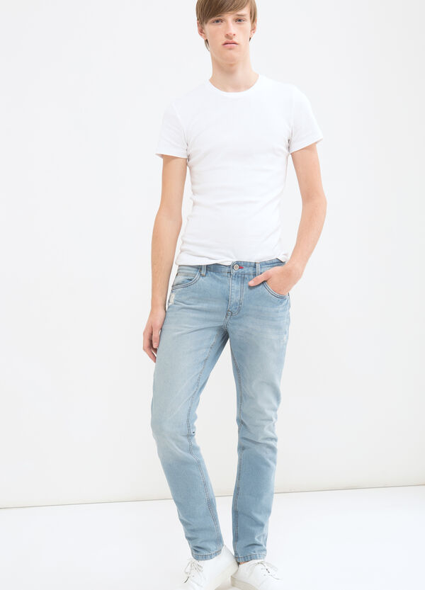 Jeans slim fit cuciture a contrasto | OVS