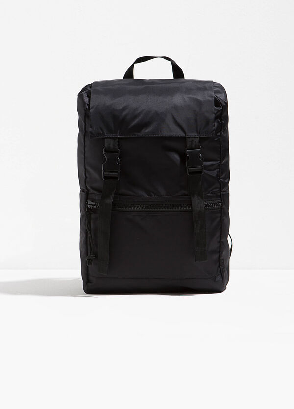 Solid colour backpack with flap | OVS