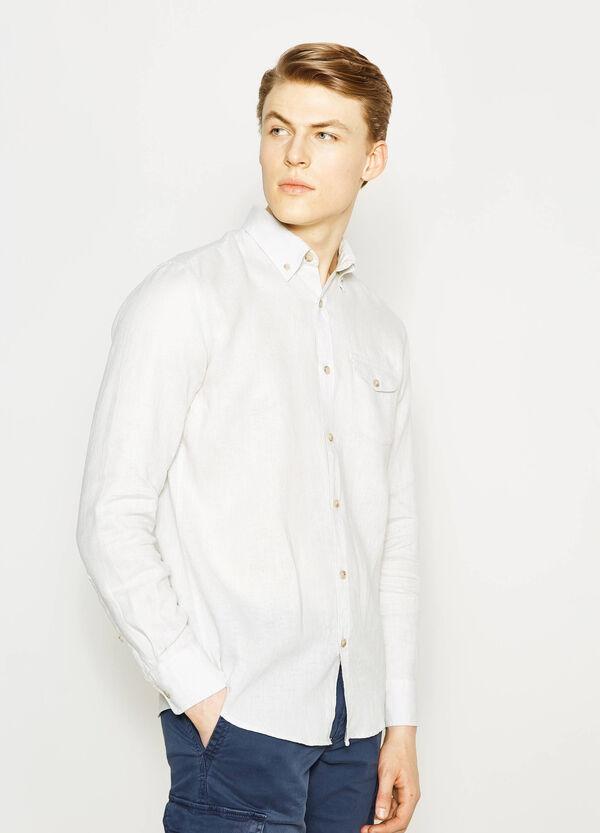 Camicia casual in lino button down   OVS