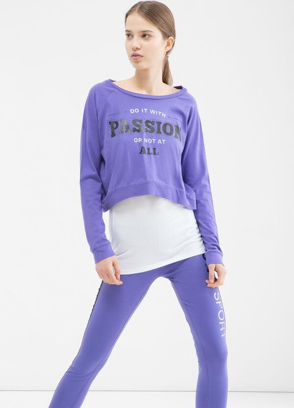 T-shirt sportiva con top cucito | OVS