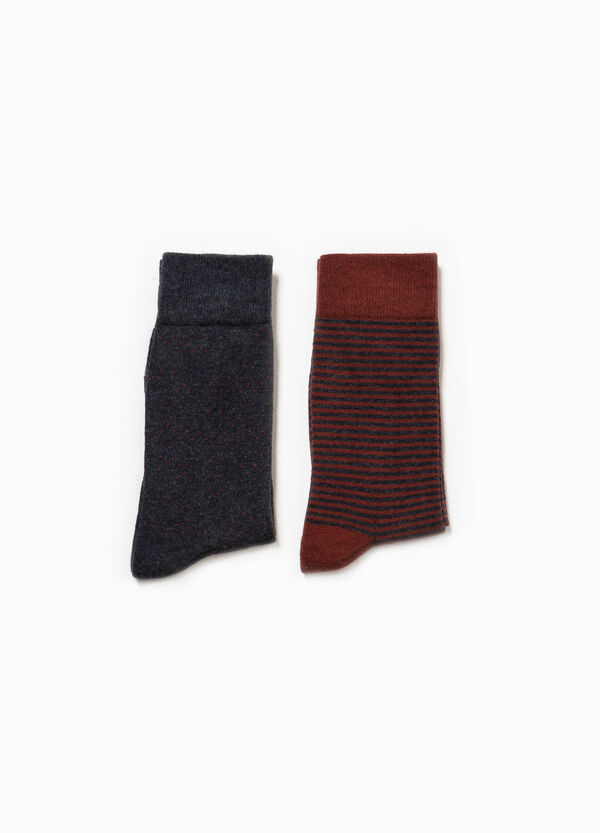 Two-pack long patterned socks | OVS