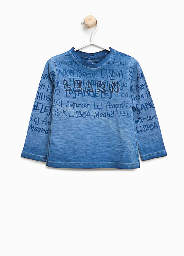 T-shirt mélange con stampa lettering | OVS