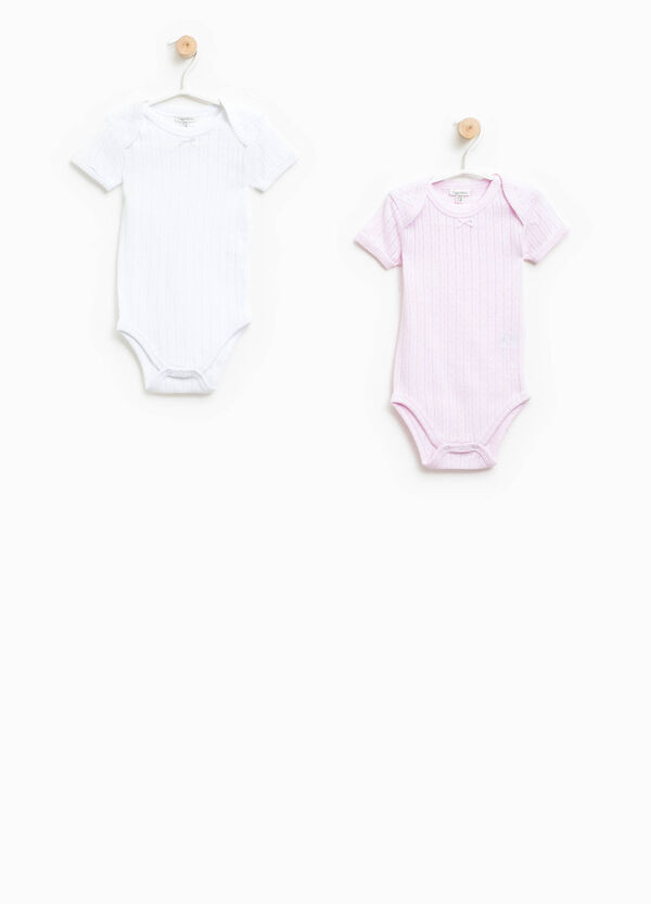 Two-pack openwork bodysuits in cotton   OVS