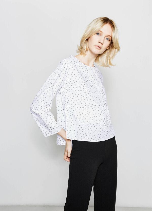 Blusa in cotone con zip su retro | OVS