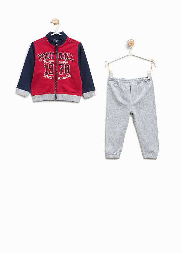 Tracksuit in cotton with printed lettering | OVS