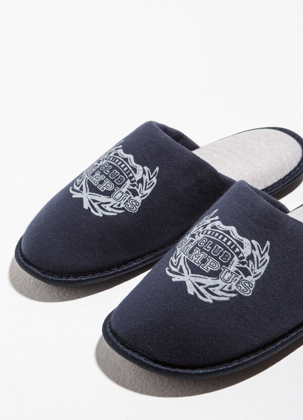 Canvas slippers with print | OVS