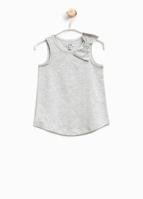 Cotton top with bow | OVS