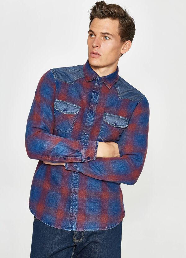 Camicia casual tessuto indigo quadri | OVS