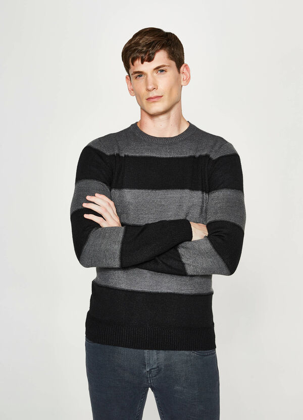 Pullover tricot fantasia a righe   OVS