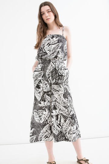 Patterned jumpsuit in 100% viscose
