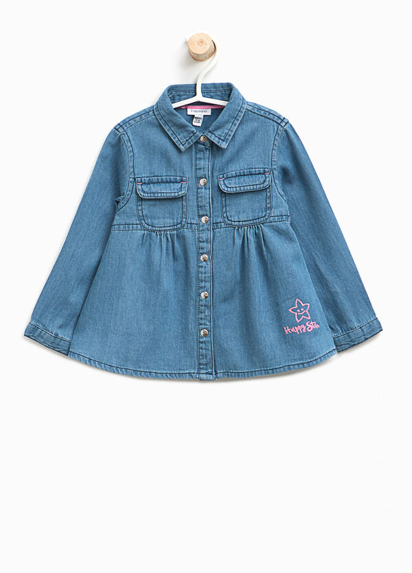 Embroidered denim shirt | OVS