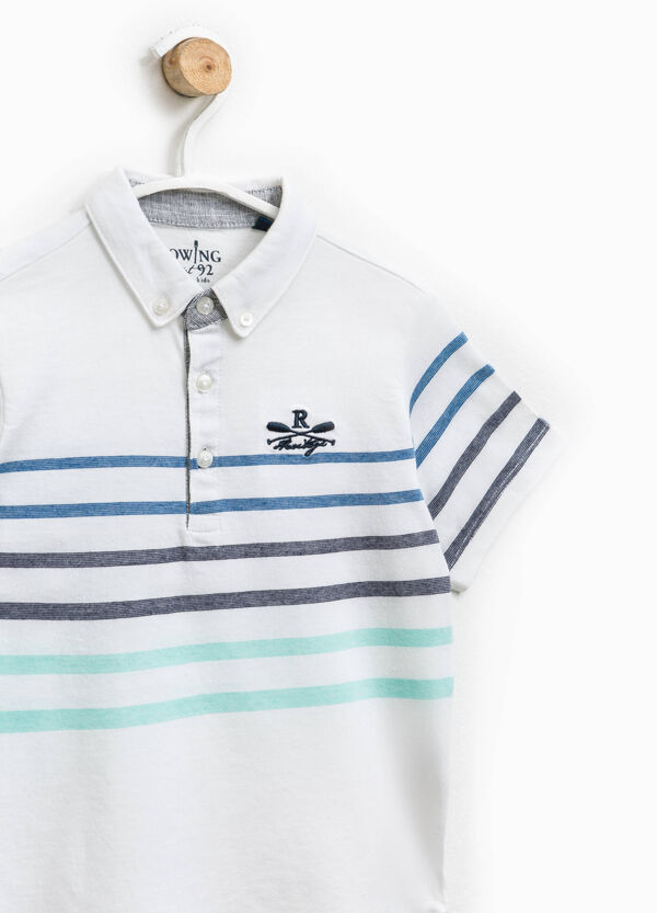 Polo shirt with striped print | OVS