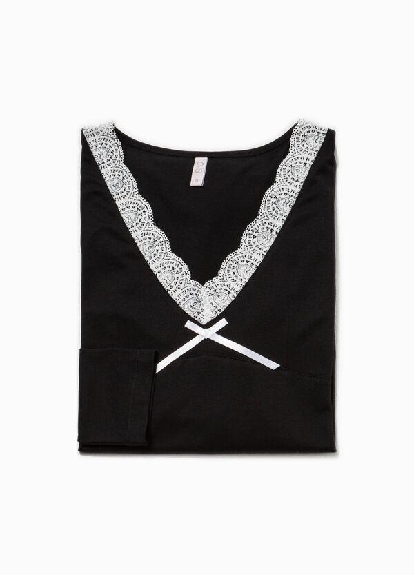 Camicia da notte con pizzo   OVS