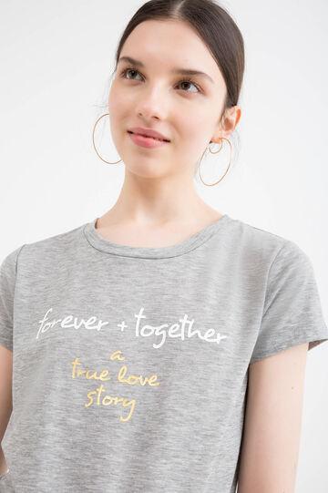 Viscose blend stretch T-shirt