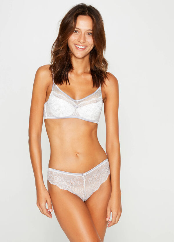 Embroidered lace bra | OVS