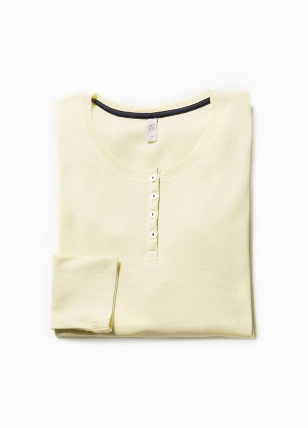 Maglia pigiama in puro cotone tinta unita   OVS