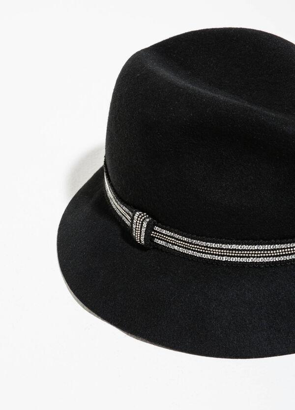 Cappello a cloche in lana con perline | OVS