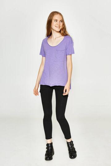 T-shirt in 100% cotton slub