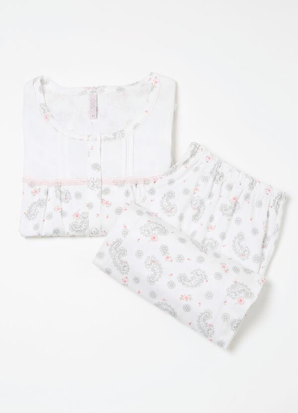 Curvy patterned cotton pyjamas | OVS