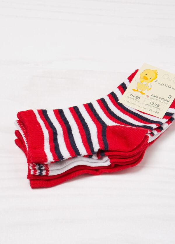 Three-pack striped socks   OVS