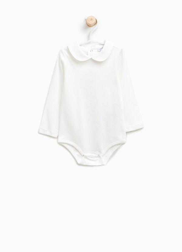 Body in cotone con colletto stondato | OVS