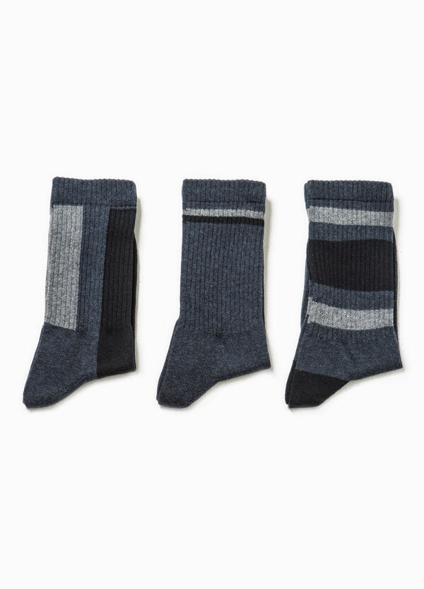 Three-pack short ribbed socks | OVS