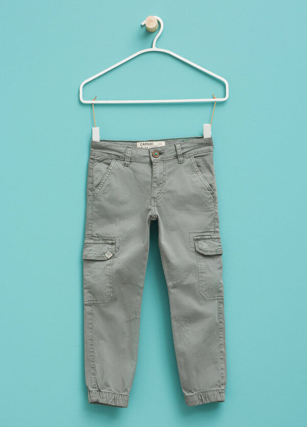 Stretch cargo trousers with patch | OVS