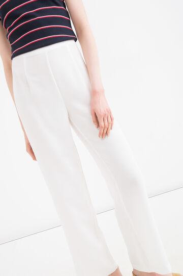 Pantaloni vita alta tinta unita