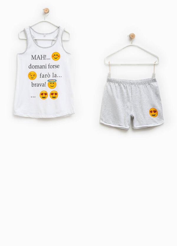 Cotton pyjamas with Smiley print | OVS