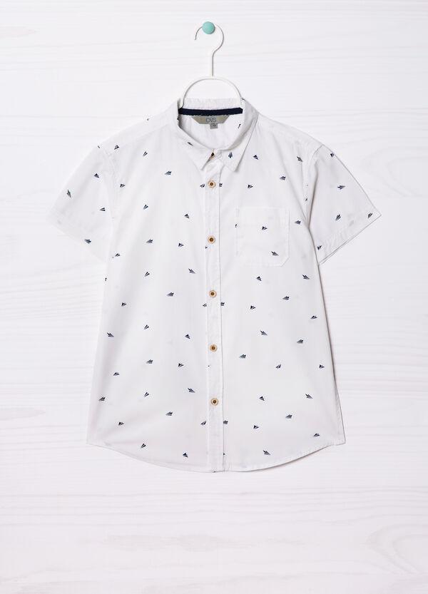 Camicia puro cotone con stampa   OVS