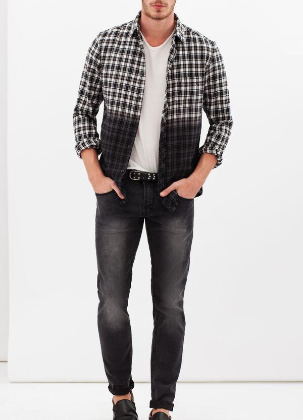 Camicia puro cotone quadri sfumati   OVS