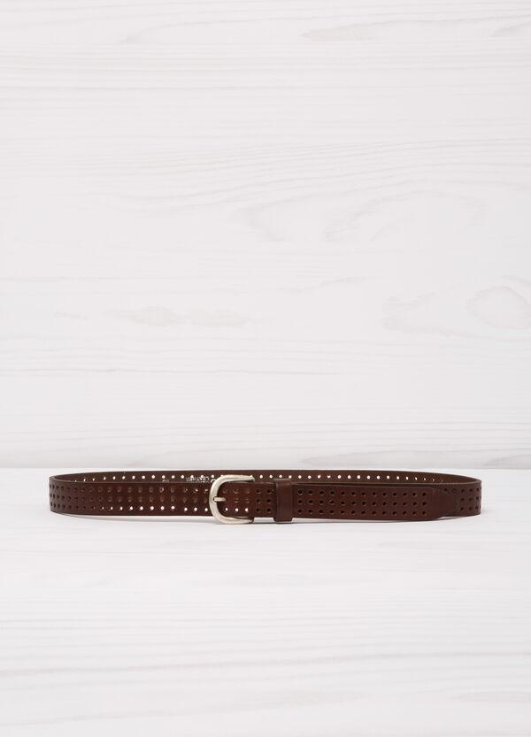 Cintura vera pelle traforata | OVS
