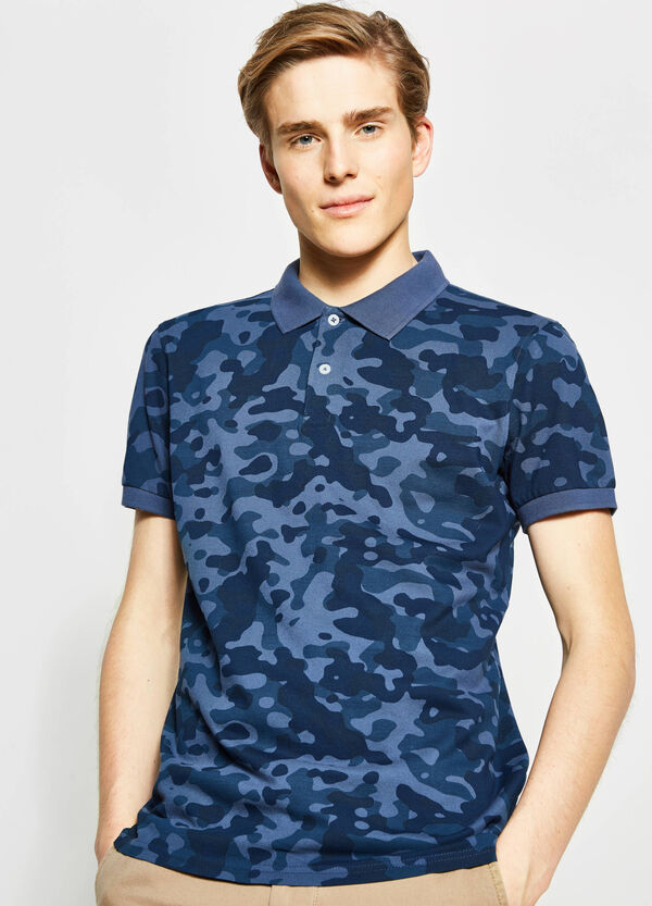 100% cotton camouflage polo shirt | OVS